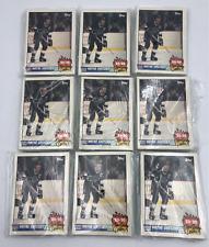 (9) 1989-90 Topps Team Scoring Leaders Hockey Trading Card Set Lot #1-21 Gretzky