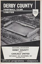 DERBY COUNTY v CARLISLE UNITED ~ 18 NOVEMBER 1967
