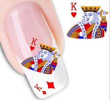 Nail Art Sticker Water Decals Transfer Stickers Card Suits Kings  (DX1282)