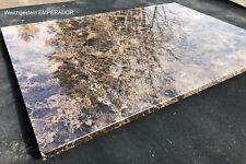 Arbeitsplatte Abdeckung Tischplatte Natursteinplatte Steinplatte braun Marmor