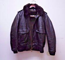 VTG SCHOTT 184SM SZ 34 Leather Flight Bomber Motorcycle Jacket W/ Liner & Collar