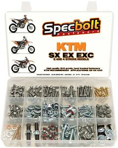 Titanium screw fork protection ktm m6 50 65 85 125 250 350 450 sx excf fxs scar