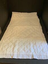 Pottery Barn WHITE Belgian Flax LINEN Diamond Quilt_ed KING SHAM Bed Bedroom NEW