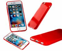Apple iPhone 6s Original Silicone Flex Gel Cyber case Cover Ultra Slim Red Case