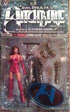 Witchblade Series 2 figures w/ Red Dress Sara, Nottingham, 1st Aspen Fathom