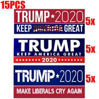15PCS/Lot Donald Trump President 2020 Bumper Sticker Keep Make America Great UA