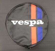 """Spare wheel cover 10"""" Vespa logo striped black/red/blue for Vespa & LML"""