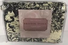 "Bristol Toile Black Standard Sham 20""x26"" French Country  (binB)"