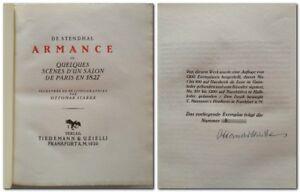 [ Bibliophilie ] Stendalh   Armance -  Tiedemann & Uzielli 1920 Edition de luxe.