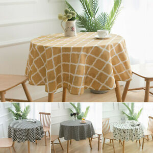 Round Garden Dining Tableware Table Cover Party Tablecloth Cloth Cotton Cover UK