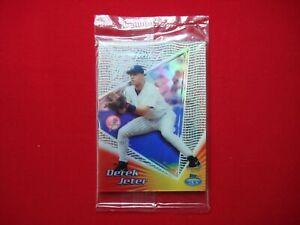 DEREK JETER 1999 TOPPS TEK FACTORY SEALED 3 CARD PROMO PACK TONY CLARK ON BACK