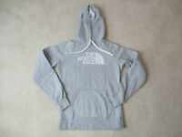 The North Face Hoodie Sweater Womens Medium Gray White TNF Hooded Ladies *