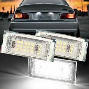 Paar Beleuchtung Kennzeichen Decke LED BMW E46 Licht Weiß Ohne Fehler Cockpit
