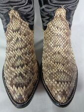 Cowtown USA Men's Boots Diamondback Rattlesnake Snakeskin Exotic Western 7.5 D