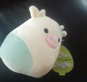 "2021 New Rare htf Kellytoy Squishmallow 5"" Easter plush Belana squish cow"