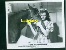GAIL RUSSELL VINTAGE 8X10 PHOTO & HORSE 1949 GREAT DAN PATCH RECKLESS MILE R1954