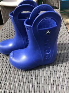 Kids Crocs pull on Wellies, size 10 used once!