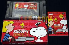 SNOOPY CONCERT Super Nintendo SNES Famicom Versione Giapponese NTSC ○○○ COMPLETO