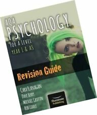 AQA Psychology for A Level Year 1 & AS - Revision Guide 9781908682444 Latest ed.
