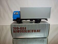 NZG MODELLE 250 MERCEDES 709-1114 TRUCK BOX BODY - BLUE 1:50 - EXCELLENT IN BOX