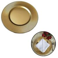 33cm Round Gold Charger Plates Party Tableware Under Decorative Dinner Placemats