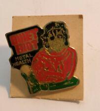 Quiet Riot vintage 80's heavy metal enamel pin