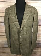 BROOKS BROTHERS Tweed Blazer Men's 42L Houndstooth Brown Green