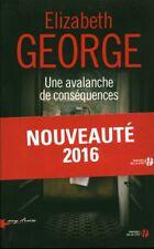 Livre une avalanche de conséquences Elisabeth George  book