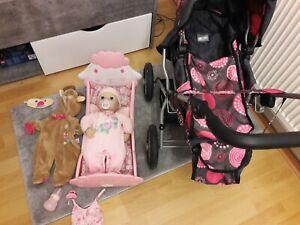 Puppe Zapf Baby Annabell Puppenwagen Bett