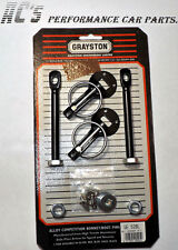 Alloy Competition Quick Release Bonnet Pin Kit - BLACK -High Tens. Alu. (GE52BL)