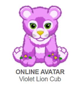 Webkinz Classic Violet Lion Cub *Code Only* (~promo pet~)