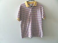 Vintage Lacoste Multi-Color Striped Polo Size 7 - Made in France - Mens XL, EUC