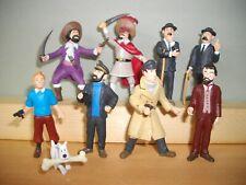 """9 mini personnages Hergé Moulinsart tintin de la marque """"Plastoy"""""""