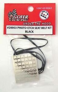 GOFER DECALS PHOTO ETCH BLACK SEATBELT KIT | 20003