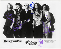 Deep Purple full band signed autographed 8x10 photo! RARE! JSA LOA!
