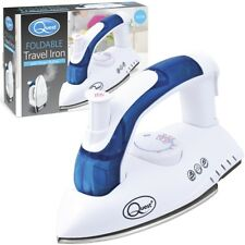 Quest 750W UK Plug Small Foldable Travel Steam Iron Compact Folding Luggage