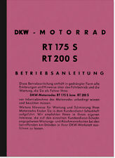 DKW RT 175 S/VS, 200 S/VS, 250vs manuale d'uso manuale di istruzioni manuale