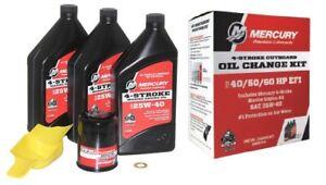 Mercury Marine Outboard 4 Stroke Engine Oil Change Kit 40/50/60 hp Fluid Filter
