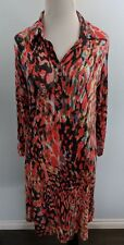 CAbi Women's Size S Dress Style #374 Abstract Watercolor Multi-Color 3/4 Sleeves
