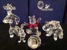 Swarovski Disney Winnie The Pooh 5pc Crystal Figurine Set Tigger Eeyore Piglet