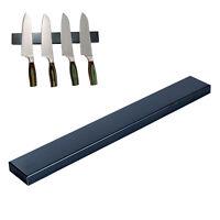 Edelstahl Messerhalter Schwarz 40cm | Magnet Messerleiste | Magnetleiste Messer