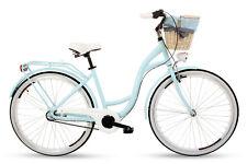 Damenfahrrad Fahrrad mit Korb Citybike Retro Goetze Style 26 Zoll Weidennatur