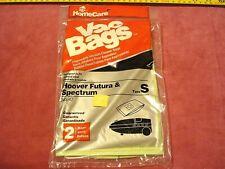 "(0968.) Vacuum Cleaner Bags Type ""S"" to fit Hoover Futura & Spectrum"