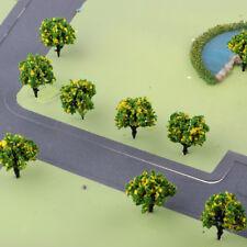 10x 1: 200 Maquettes d'arbres peints à l'échelle de la scène Scène de