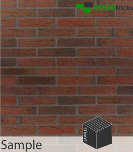 Brick Slips Cladding Decoration Brick Tiles Real Clay - Rustic Russet Mixture