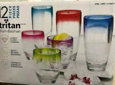 Tritan from Eastman 12 pc Unbreakable Drinkware set, BPA Free, MULTI
