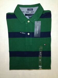 Tommy Hilfiger - Green with Blue Striped - men's medium - Custom fit