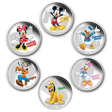 2014 Niue 6-Coin Silver $2 Disney Mickey & Friends Set (Colored) - SKU #84956