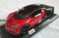 MAISTO 1:18 Scale - Bugatti Chiron Sport - Red Black - Diecast Model Car