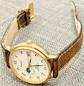 Schöne REGENT OSCO Armbanduhr Quartz Mondphasen-, Datumsanzeige